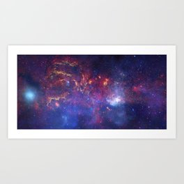 Center of the Milky Way Galaxy IV - Space Art Art Print