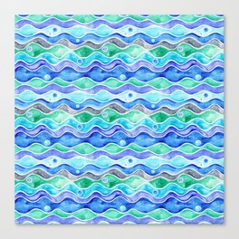 Ocean Pattern - Dolphin Canvas Print