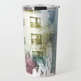 N.Y. collage color burst Travel Mug