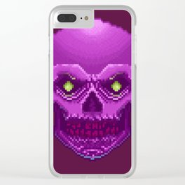 Pxl_Skull Clear iPhone Case