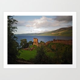 Urquhart Castle and Loch Ness Art Print