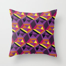 Chasing purple Throw Pillow