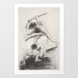 Cain and Abel (1886) by Odilon Redon. Art Print
