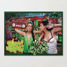 Reggae is green Canvas Print