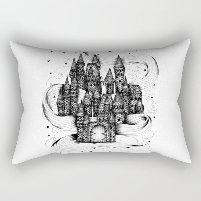 Super Magic Dream Castle Rectangular Pillow
