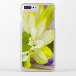 Purple Yellow Clear iPhone Case
