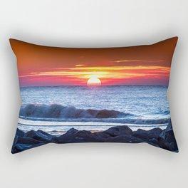 Sunset and a wave Rectangular Pillow