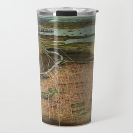 Map Of Newark 1916 Travel Mug