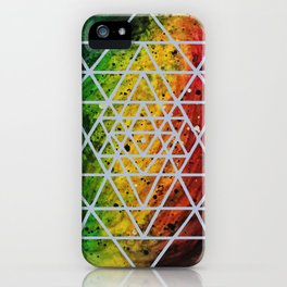 Rasta Planet with Sri Yantra iPhone Case