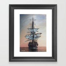Sunset Arrival Framed Art Print