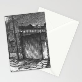 Entrance to the factory Stationery Cards