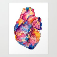 Heart Is On Fire Art Print