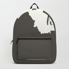 Montana is Home - White on Charcoal Backpack