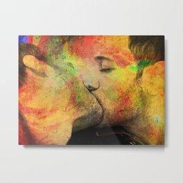 gay kiss Metal Print