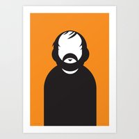 stanley kubrick Art Prints featuring Stanley by Ale Giorgini