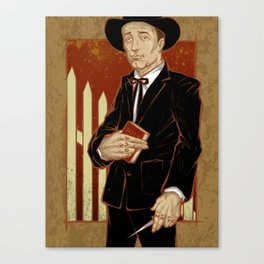 Robert Mitchum - Night of the Hunter Canvas Print