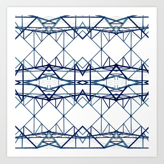 blue iron II Art Print
