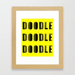 Doodle Doodle Doodle (#2) Framed Art Print
