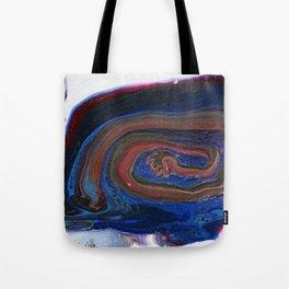 Fluid Acrylic VIII - Negative space fluid pour painting Tote Bag