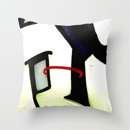 graffiti abstract black red, london Throw Pillow