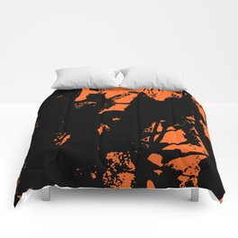 Orange Base black Comforters