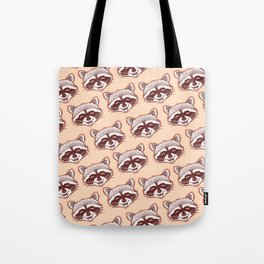 Happy raccoon Tote Bag