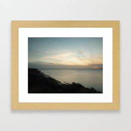 Sunset / color Framed Art Print