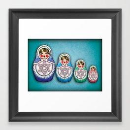 winter dolls Framed Art Print