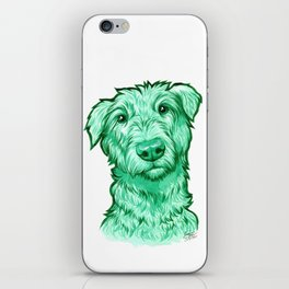 Green Wolfhound iPhone Skin