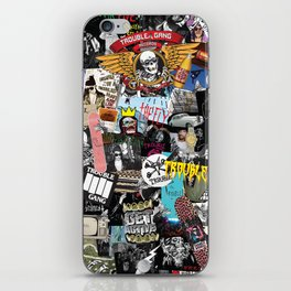 TROUBLE COLLAGE iPhone Skin