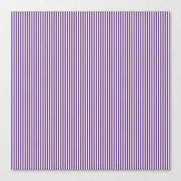 Purple Pinstripes Canvas Print