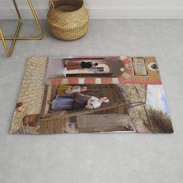 "Pieter de Hooch ""The Courtyard of a House in Delft"" Rug"