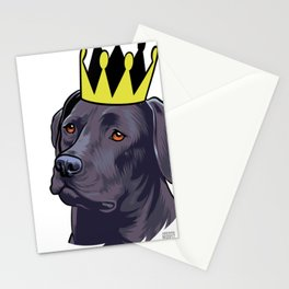 Labrador black king Stationery Cards