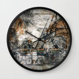 City-Art AMSTERDAM Bicycles Wall Clock