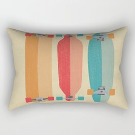 Three types of skateboards Rectangular Pillow