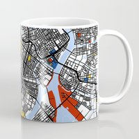 tokyo Mugs featuring Tokyo by Mondrian Maps