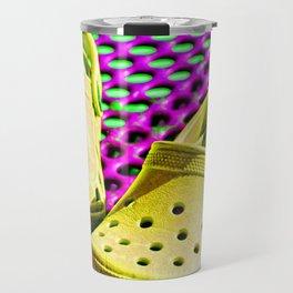 Pop Art Crocs By Sharon Cummings Travel Mug