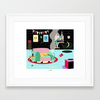 home alone Framed Art Prints featuring HOME ALONE by Alba Blázquez
