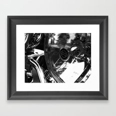 Harley Headlight Framed Art Print