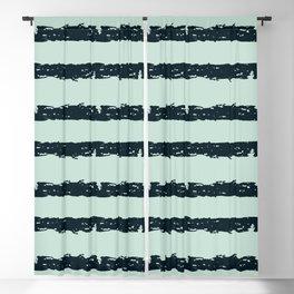 Texture Stripe Deep Blue and Light Cyan Blackout Curtain