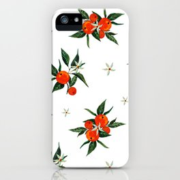 tangerine branches in bloom iPhone Case