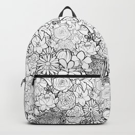 Clean & bright white flowers Backpack