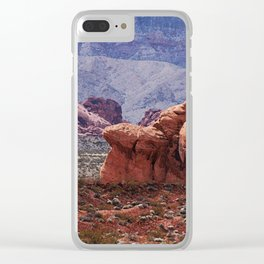 Valley of Fire Rocks Clear iPhone Case