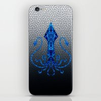 squid iPhone & iPod Skins featuring Squid by Bahadır Tez