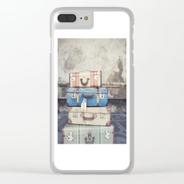 Vintage Suitcases Clear iPhone Case