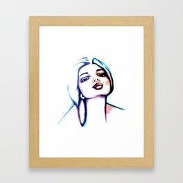 She Glows Blue Framed Art Print