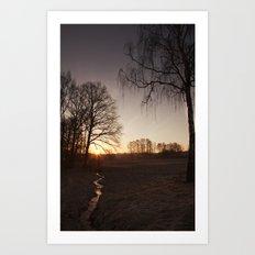 Sunrise in Rybnik Art Print