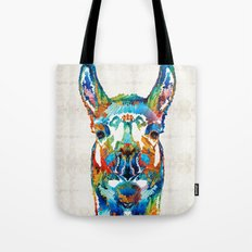 Colorful Llama Art - The Prince - By Sharon Cummings Tote Bag