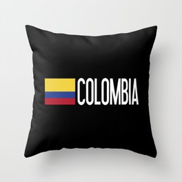 Colombia: Colombian Flag & Colombia Throw Pillow