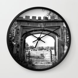 Forest Ruins Wall Clock